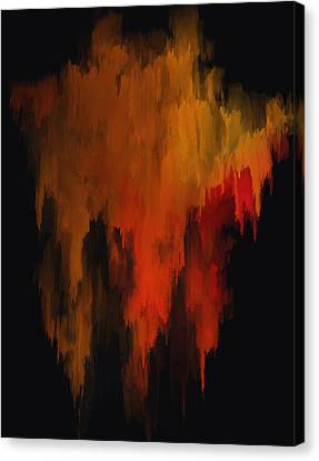 Red And Gold 1 Canvas Print by Michael Pickett