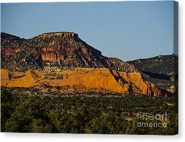 Red And Green Plateau New Mexico Canvas Print by Deborah Smolinske