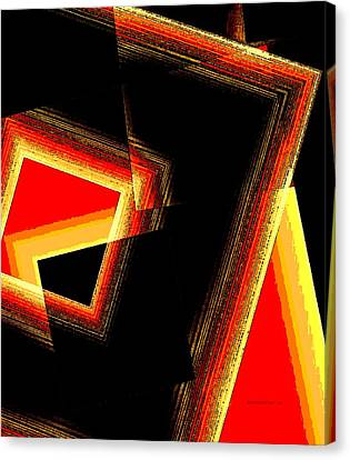 Red And Yellow Geometric Design Canvas Print by Mario Perez