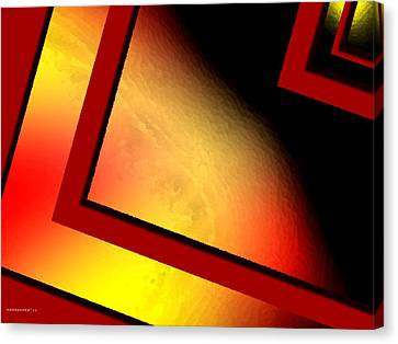 Red Angle With Yellow Canvas Print by Mario Perez