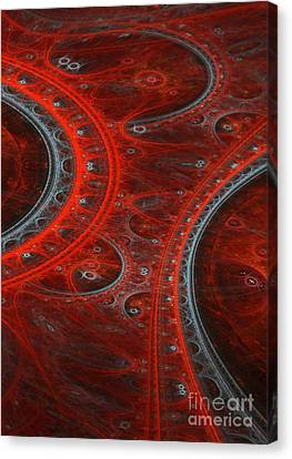 Red Arc Canvas Print by Martin Capek