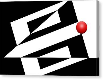 Red Ball 14 Canvas Print by Mike McGlothlen
