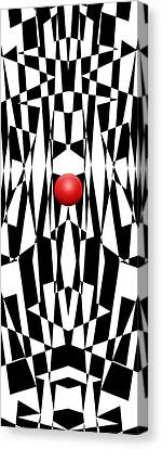 Red Ball 21 V Panoramic Canvas Print by Mike McGlothlen