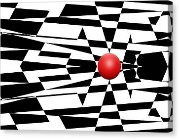Red Ball 23 Canvas Print by Mike McGlothlen