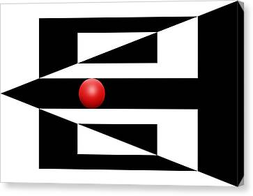 Red Ball 3 Canvas Print by Mike McGlothlen