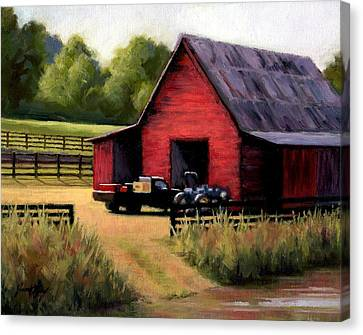 Red Barn In Leiper's Fork Tennessee Canvas Print by Janet King