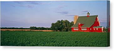 Red Barn Kankakee Il Usa Canvas Print by Panoramic Images