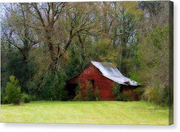 Red Barn Canvas Print by Steven Richardson