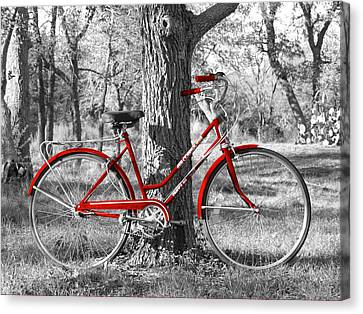 Red Bicycle Canvas Print by James Granberry