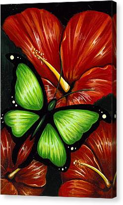 Red Blooms Canvas Print by Elaina  Wagner