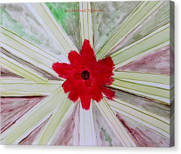 Red Brilliance Canvas Print by Sonali Gangane