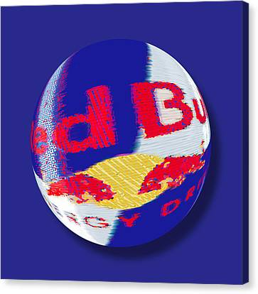 Red Bull Orb Canvas Print by Tony Rubino