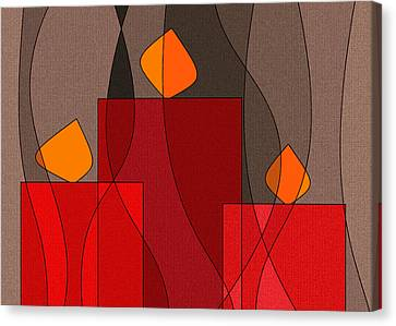 Red Candels II Canvas Print by Val Arie