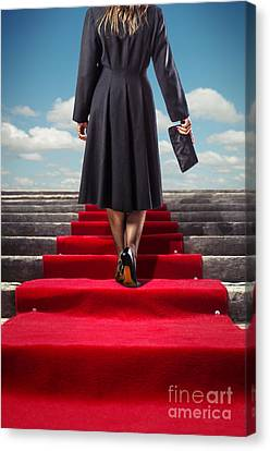 Red Carpet Stairway Canvas Print by Carlos Caetano