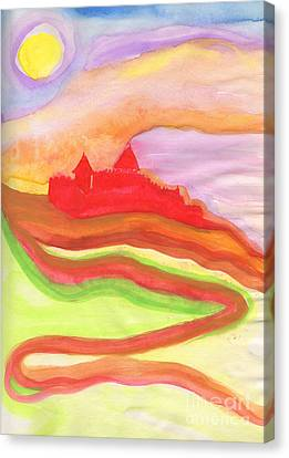 Red Castle Canvas Print by First Star Art