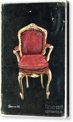 Red Chair Canvas Print by Cathy Peterson