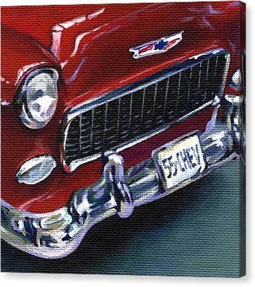 Red Chevy Canvas Print by Natasha Denger
