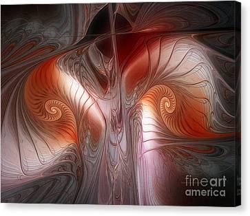 Red Dawn-fractal Design Canvas Print by Karin Kuhlmann