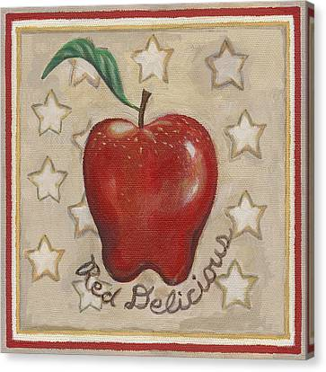 Red Delicious Two Canvas Print by Linda Mears
