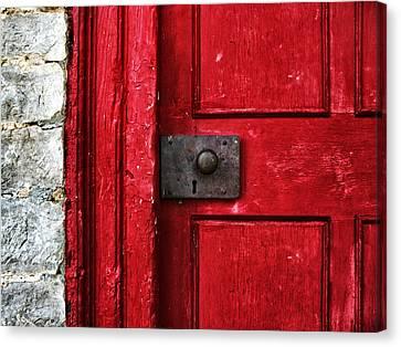 Red Door Canvas Print by Steven  Michael