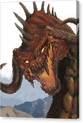Red Dragon Canvas Print by Matt Kedzierski