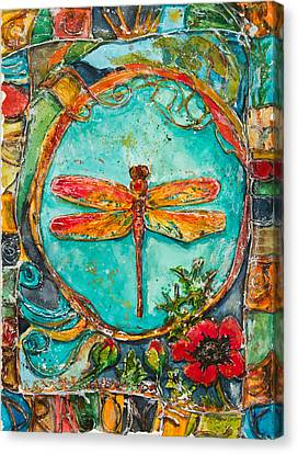 Red Dragonfly Canvas Print by Patricia Allingham Carlson