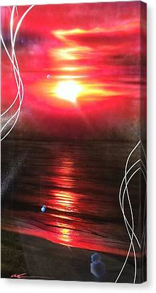 'red Earth' Canvas Print by Christian Chapman Art