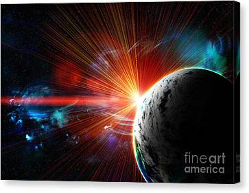 Red Earth The Blue Planet Canvas Print by Boon Mee