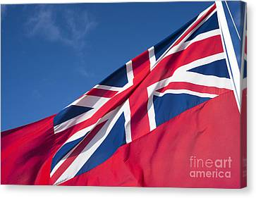 Red Ensign Canvas Print by Anne Gilbert