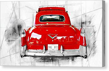 Red Fleetwood Canvas Print by Barbara Chichester
