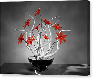 Red Flowers Canvas Print by Louis Ferreira