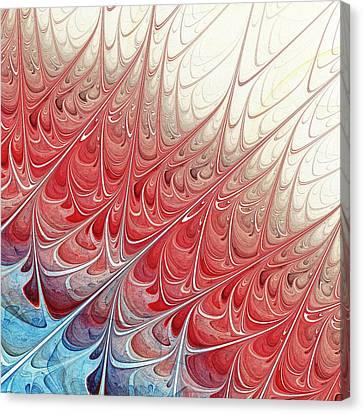 Red Folium Canvas Print by Anastasiya Malakhova
