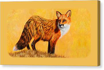 Red Fox Painting Iphone Case Canvas Print by Crista Forest
