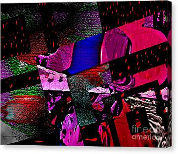 Red Geometric Expression Canvas Print by Mario Perez