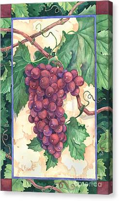 Red Grapes Canvas Print by Paul Brent