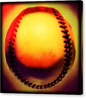 Red Hot Baseball Canvas Print by Yo Pedro