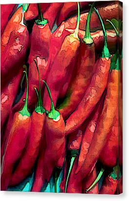 Red Hot Chili Peppers Canvas Print by Elaine Plesser