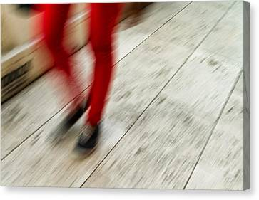 Red Hot Walking Canvas Print by Karol Livote