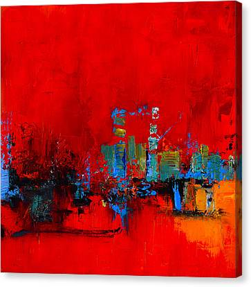 Red Inspiration Canvas Print by Elise Palmigiani
