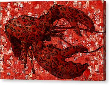 Red Lobster 1 Canvas Print by Jack Zulli