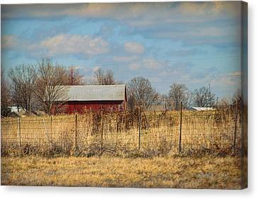 Red Kentucky Relic Canvas Print by Paulette B Wright