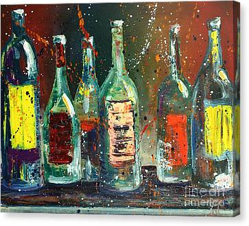 Red Label  Canvas Print by Jodi Monahan