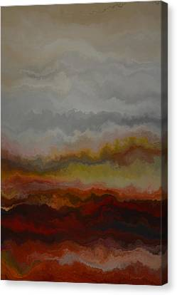 Red Landscape  Canvas Print by Andrada Anghel