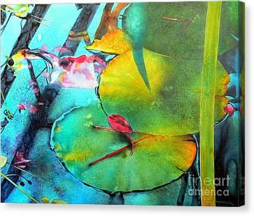 Red Leaf Canvas Print by Robert Hooper