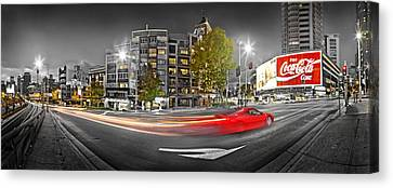 Red Lights Sydney Nights Canvas Print by Az Jackson