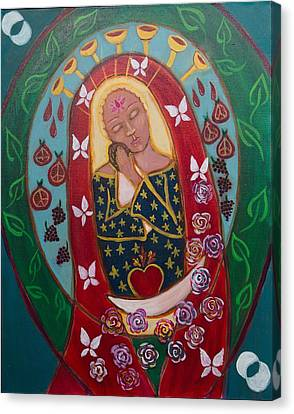 Red Madonna Canvas Print by Havi Mandell