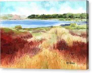 Red Marsh Canvas Print by Kris Parins