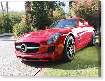 Red Mercedes Benz Canvas Print by Nina Prommer