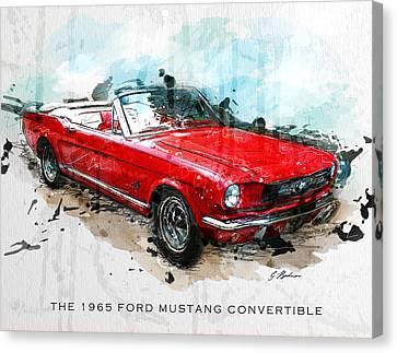 The Red Pony 2 Canvas Print by Gary Bodnar
