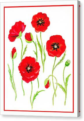 Red Poppies Canvas Print by Irina Sztukowski